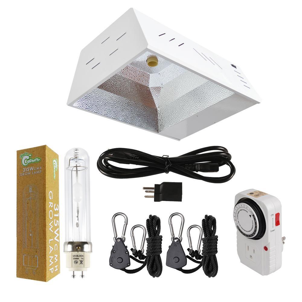 315-Watt CMH Ceramic Metal Halide Grow Light Fixture with Built-in Ballast System and 3100K Lamp