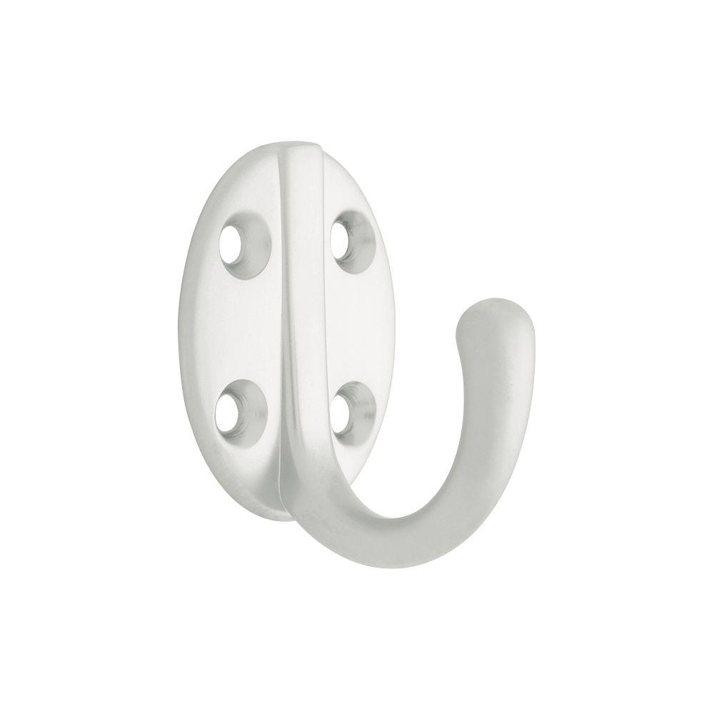 1-15/16 in. Aluminum Single Robe Hook with Round Base