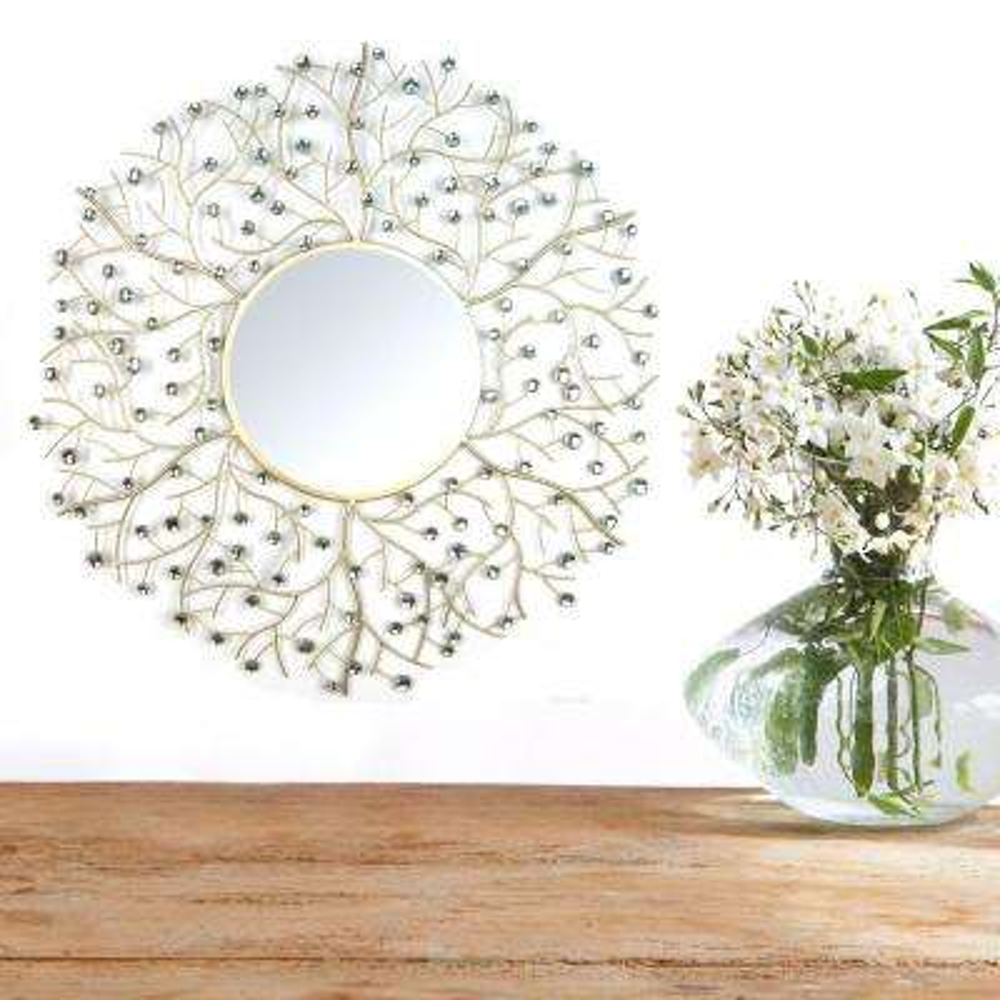 Stratton Home Decor Acrylic Eloise Wall Mirror