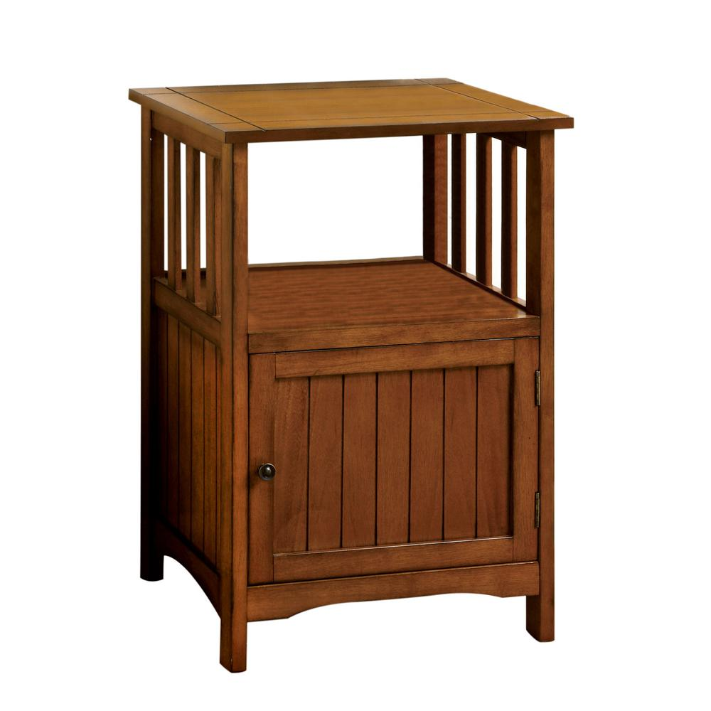 Furniture of America Tammy Antique Oak Stand - Furniture Of America Tammy Antique Oak Stand-IDF-AC280 - The Home Depot