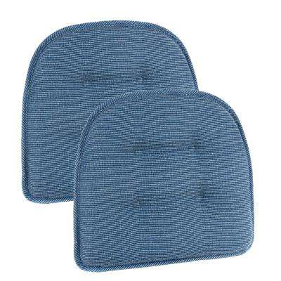 Gripper Non-Slip 15 in. x 16 in. Saturn Wedge Tufted Chair Cushions (Set of 2)