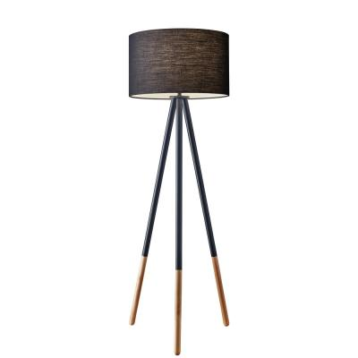 Louise 60 in. Black Tripod Floor Lamp