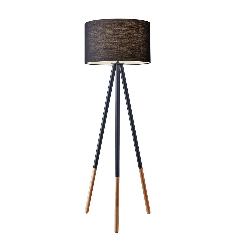 Louise 60 in. Black Tripod Floor Lamp