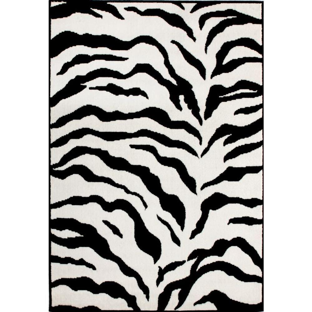 Nuloom Black And White Rug: NuLOOM Zebra Print Black And White 5 Ft. X 8 Ft. Area Rug