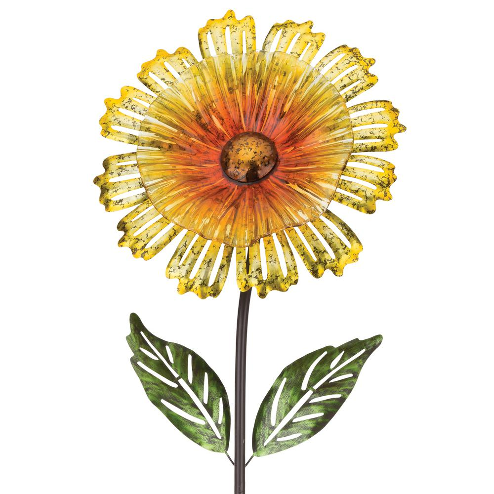 53 in. Cosmo Garden Flower Stake - Yellow