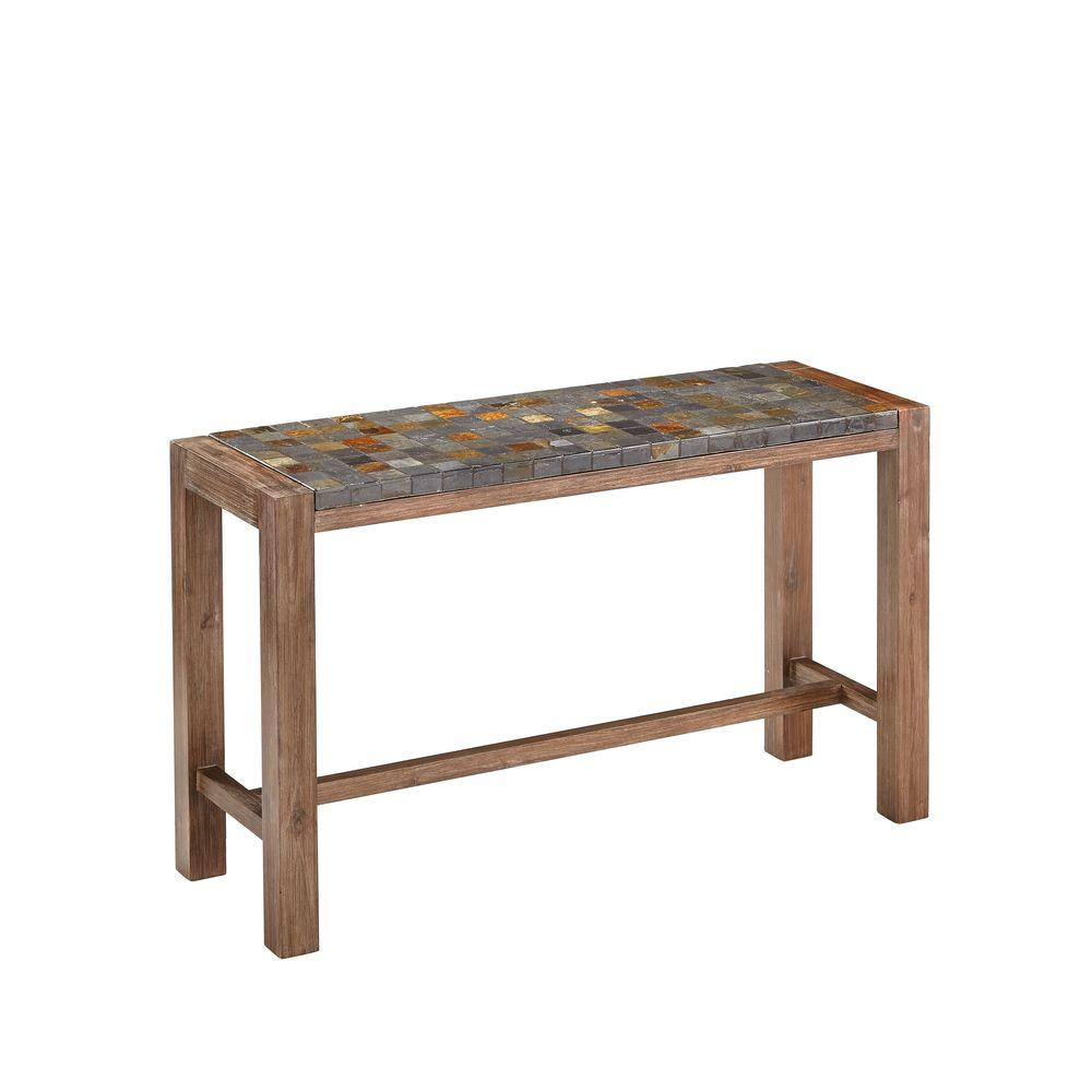 Home Styles Morocco Indoor Outdoor Patio Console Table With Slate Top 5601 22 The Home Depot