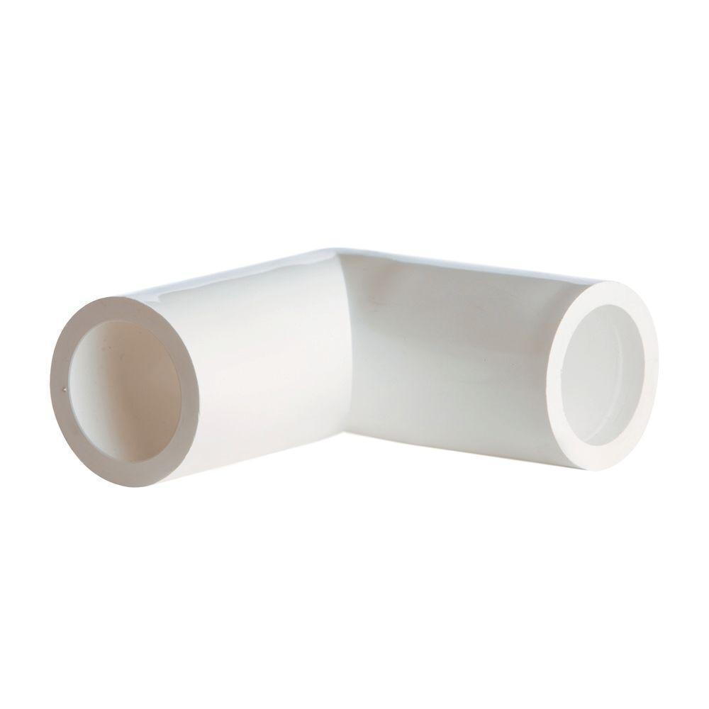 DeckoRail 90 Degree White Handrail Outside Corner
