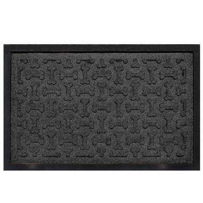 Charcoal 18 in. x 27 in. Dog Treats Boot Tray
