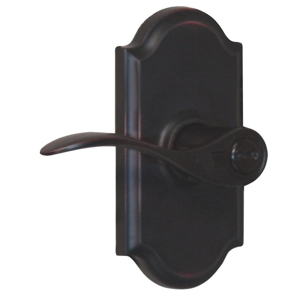Elegance Oil-Rubbed Bronze Left-Hand Premiere Keyed Entry Bordeau Door Lever