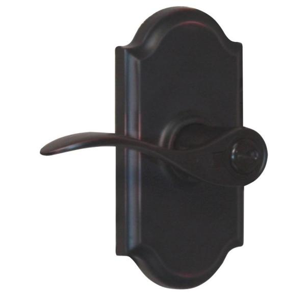 Elegance Oil-Rubbed Bronze Left-Hand Premiere Keyed Entry Bordeau Door Lever