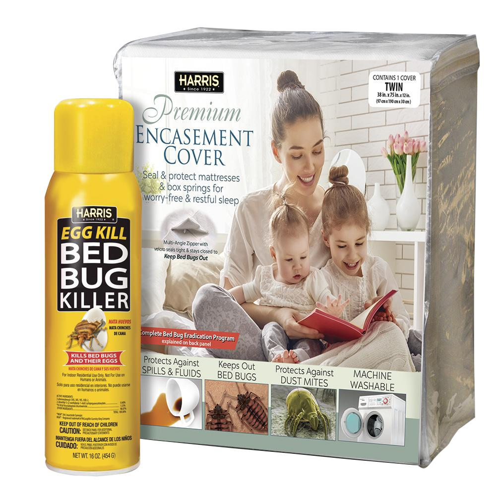 Harris Twin Bed Bug Mattress Cover and Bed Bug Spray - Va...