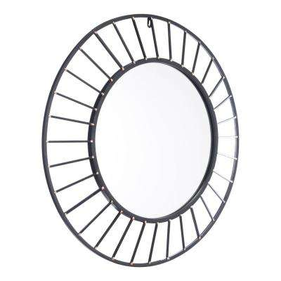 Sunburst Black Wall Mirror