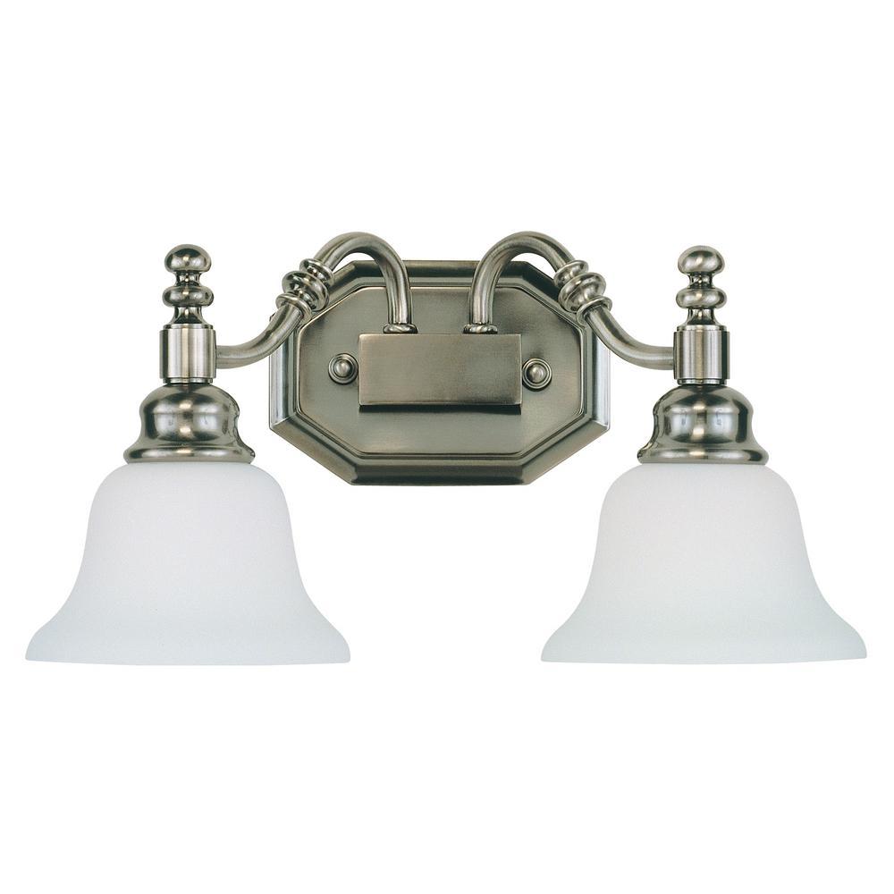 2-Light Antique Nickel Bath Light
