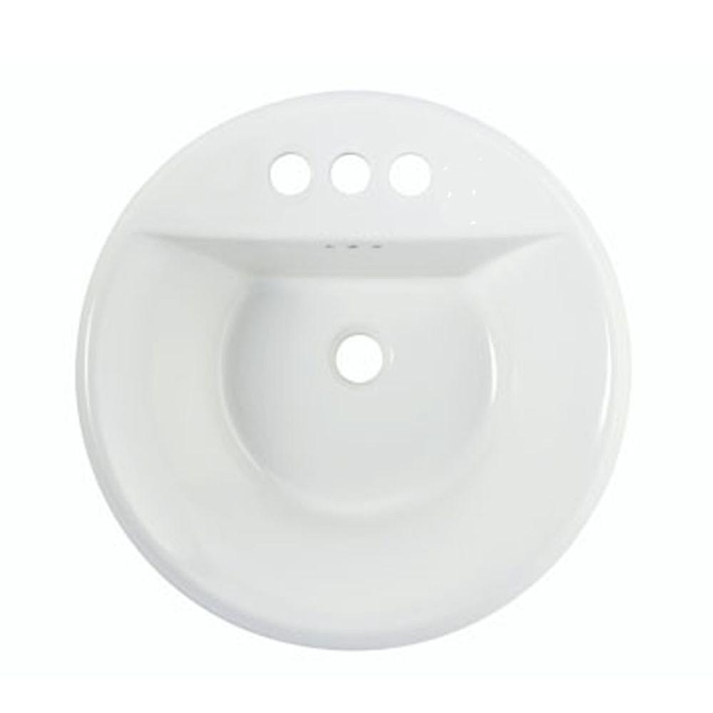 American Standard Tropic Round EverClean Bathroom Sink in White-DISCONTINUED