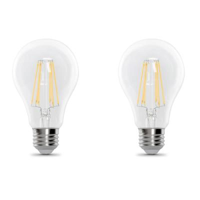 100-Watt Equivalent A21 Dimmable Filament CEC Title 20 Compliant LED 90+ CRI Clear Glass Light Bulb, Daylight (2-Pack)