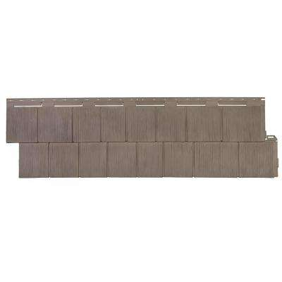 Shake RS - 14.5 in. x 48.75 in. Rough Sawn Shake in Weathered Blend (48.84 sq. ft. per Box) Plastic Shake Siding