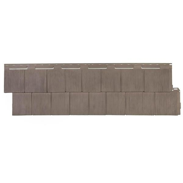 Shake RS - 14.5 in. x 48.75 in. Rough Sawn Shake in Weathered Blend (48.84 sq. ft. per Box) Plastic Shake Vinyl Siding