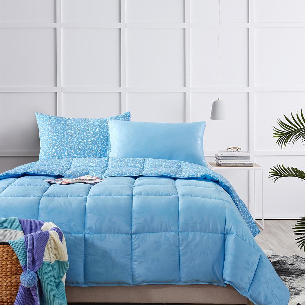 Bird on Branch Air Blue Queen Comforter Set