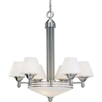 Avila 9-Light Brushed Nickel Interior Chandelier