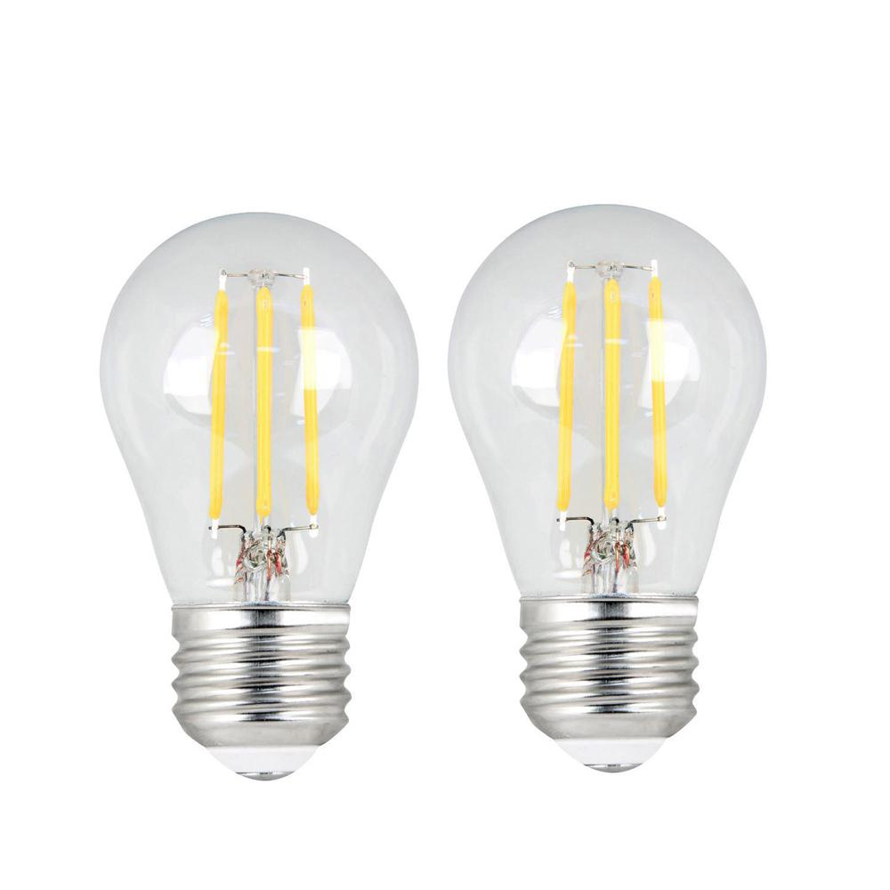 Feit Electric 60W Equivalent Daylight (5000K) A15 Dimmable Filament Clear Glass LED Ceiling Fan Light Bulb (2-Pack)