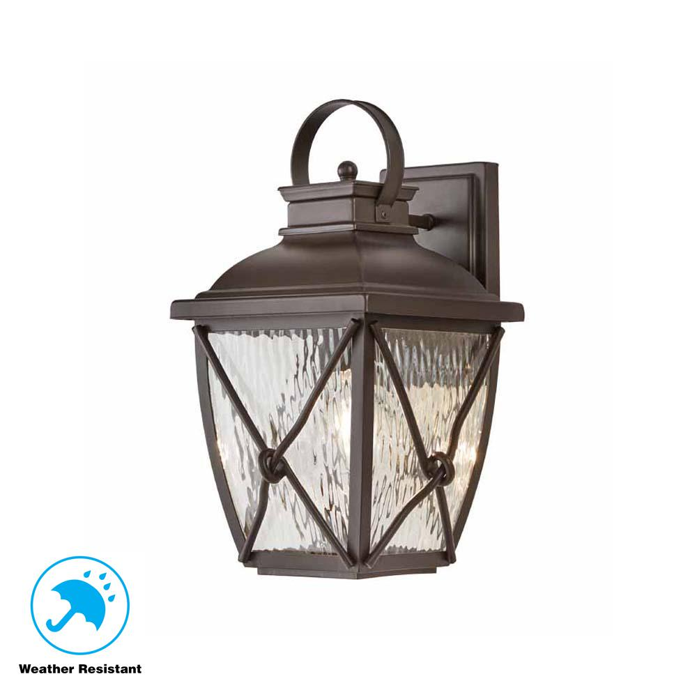 Home Decorators Collection Springbrook 1 Light Rustic Outdoor Wall Mount Lantern
