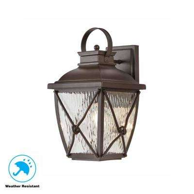 Springbrook 1-Light Rustic Outdoor Wall Mount Lantern