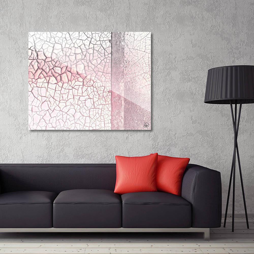 """20 in. x 24 in. """"Pink Fading Rust"""" Acrylic Wall Art Print"""