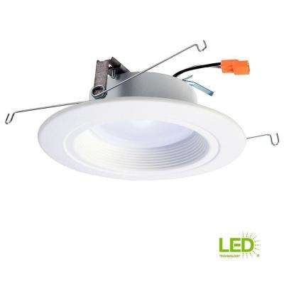 RL 5 in. and 6 in. White Integrated LED Recessed Ceiling Light Fixture Retrofit Downlight at 90 CRI, 3000K Soft White