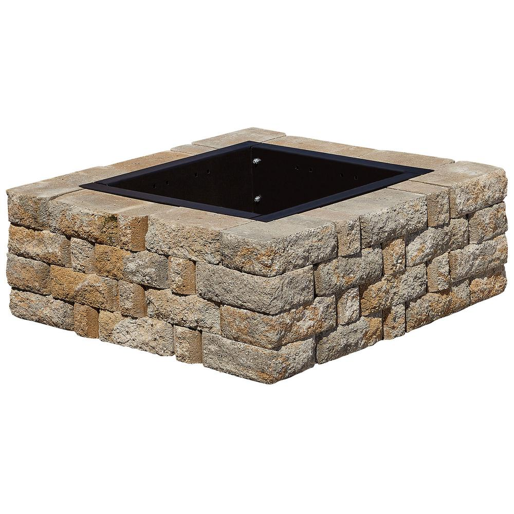 SplitRock 38.5 in. W x 14 in. H Square Fire Pit