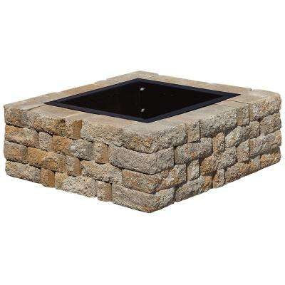 SplitRock 38.5 in. W x 14 in. H Square Fire Pit Kit in Yukon