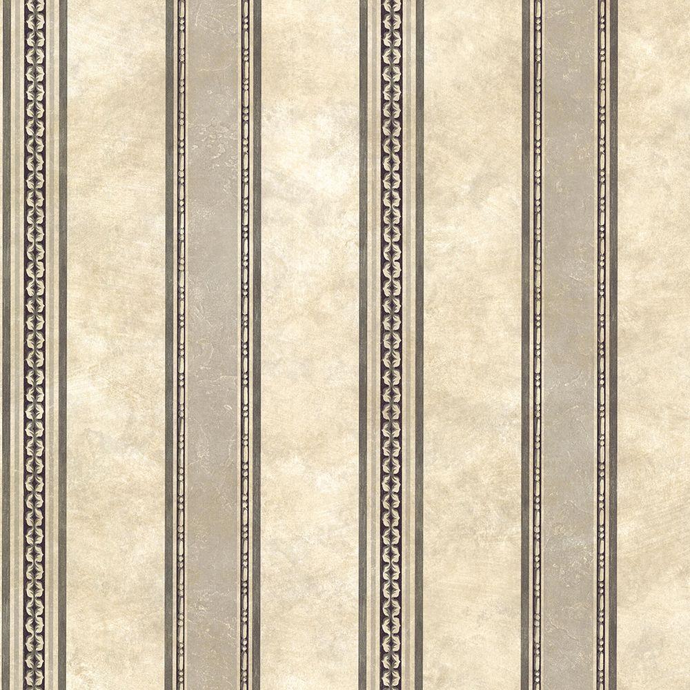 Chesapeake Castine Charcoal Tuscan Stripe Wallpaper SRC761910