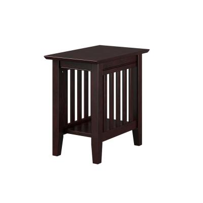 Mission 22 in. H Espresso Chair Side Table