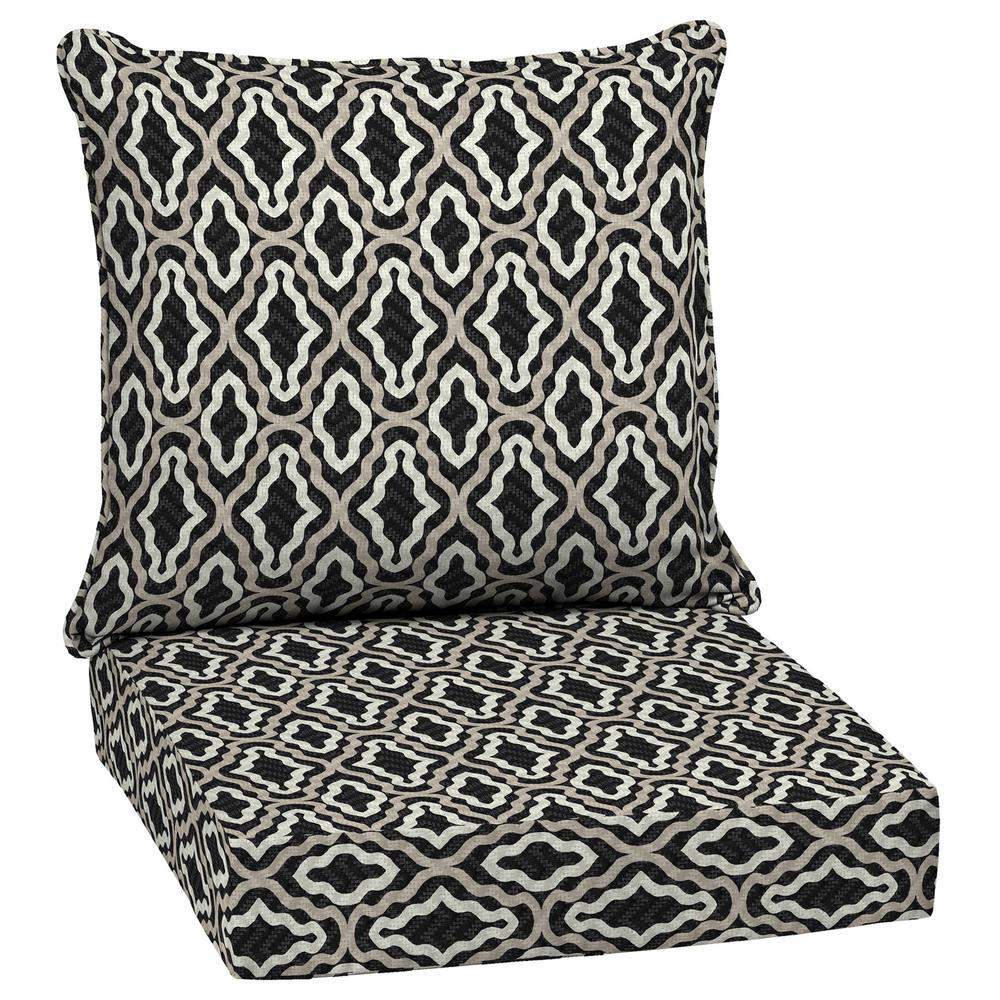 Arden Selections DriWeave Amalfi Trellis Outdoor Deep Seat Lounge Chair Cushion Set