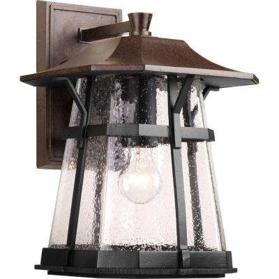 Derby Collection 1-Light Large Espresso Outdoor Wall Lantern