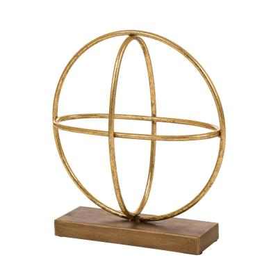12.99 in. H Gold Accent Sphere Tabletop Decor