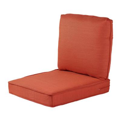 Spring Haven 23.5 in. x 26.5 in. 2-Piece Outdoor Lounge Chair Cushion in Standard Orange