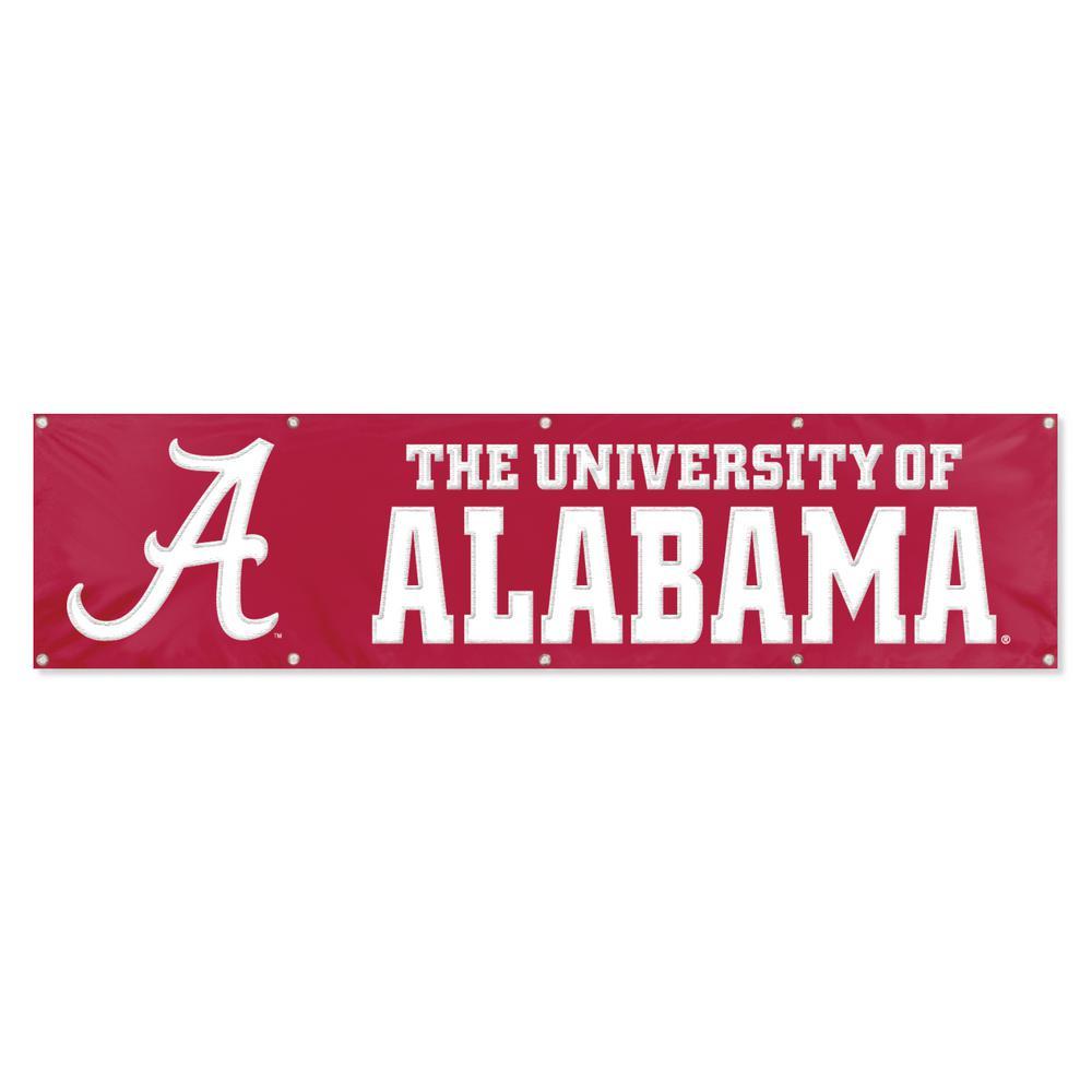 Party Animal Alabama Crimson Tide Giant 8 Ft X 2 Ft Banner Bal The Home Depot