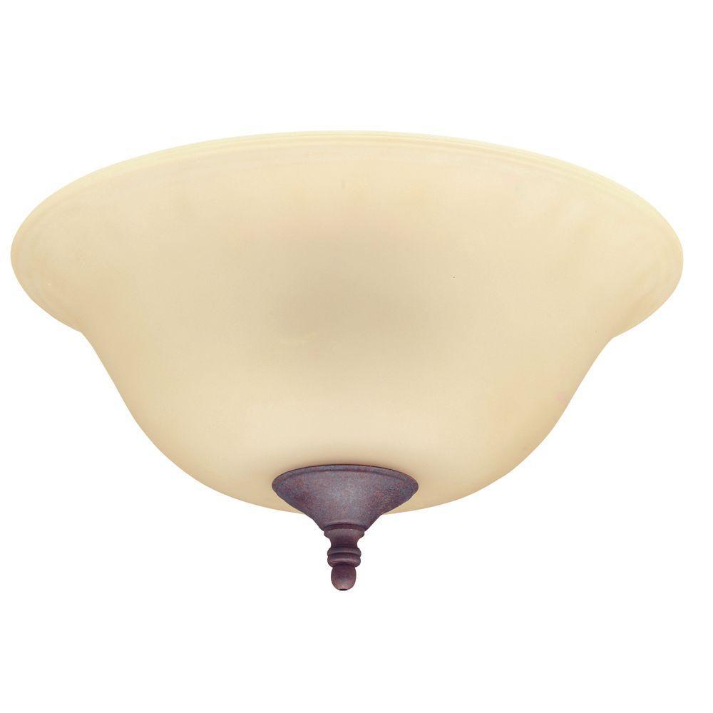 Hunter 12 in. Amber Bowl Ceiling Fan Light Kit