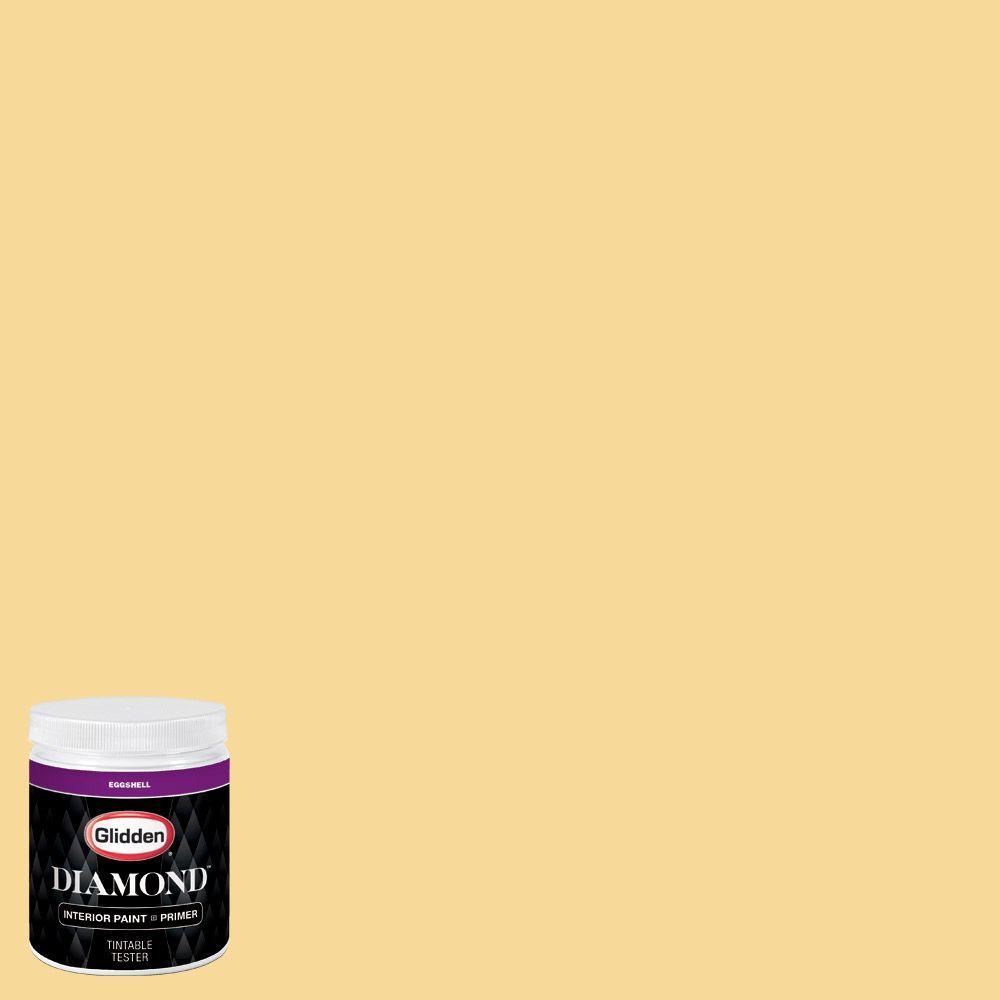 Glidden diamond 8 oz hdgy20u yellow duckling eggshell for Eggshell yellow paint