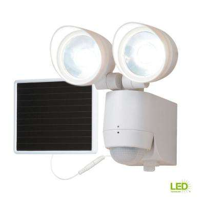 130-Degree Motion Activated Sensor Twin-Head Solar Powered LED Light