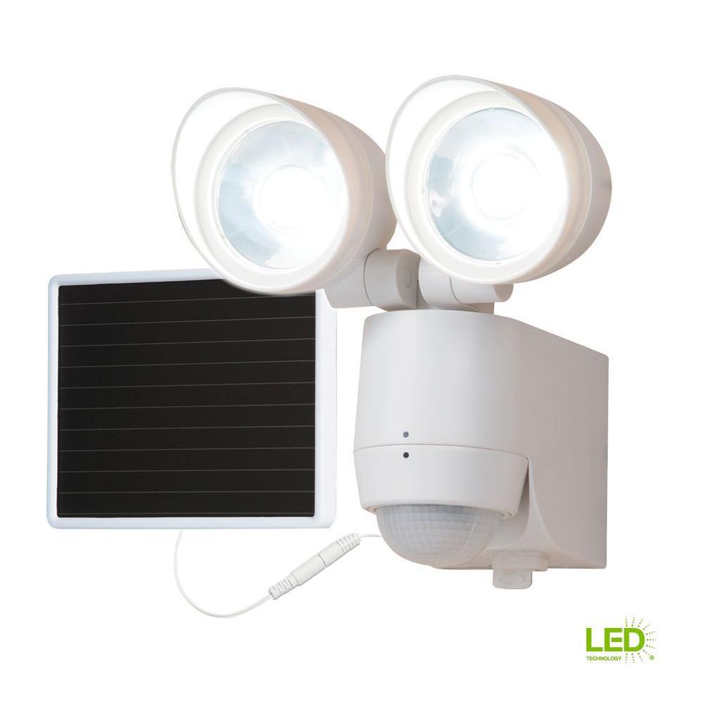 130-Degree Motion Activated Sensor Twin-Head Solar Powered LED Light
