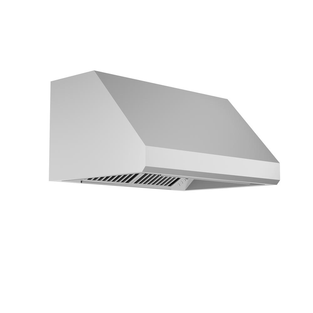 Zline Kitchen And Bath Zline 48 In. 1200 Cfm Under Cabinet Range Hood In Stainless Steel, 19 Gauge #430 Brushed Stainless Steel