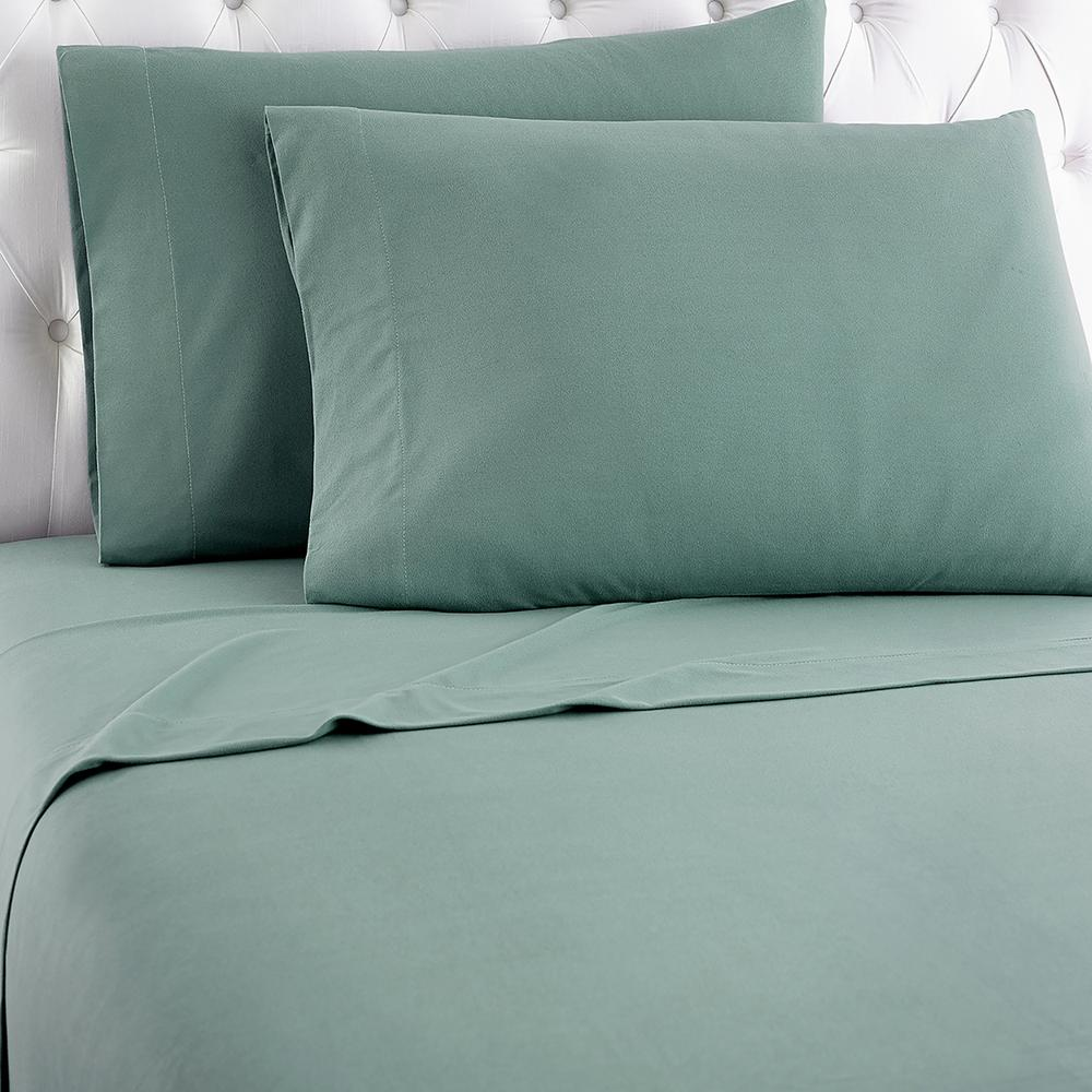 3-Piece Spruce (Green) Twin Sheet Set