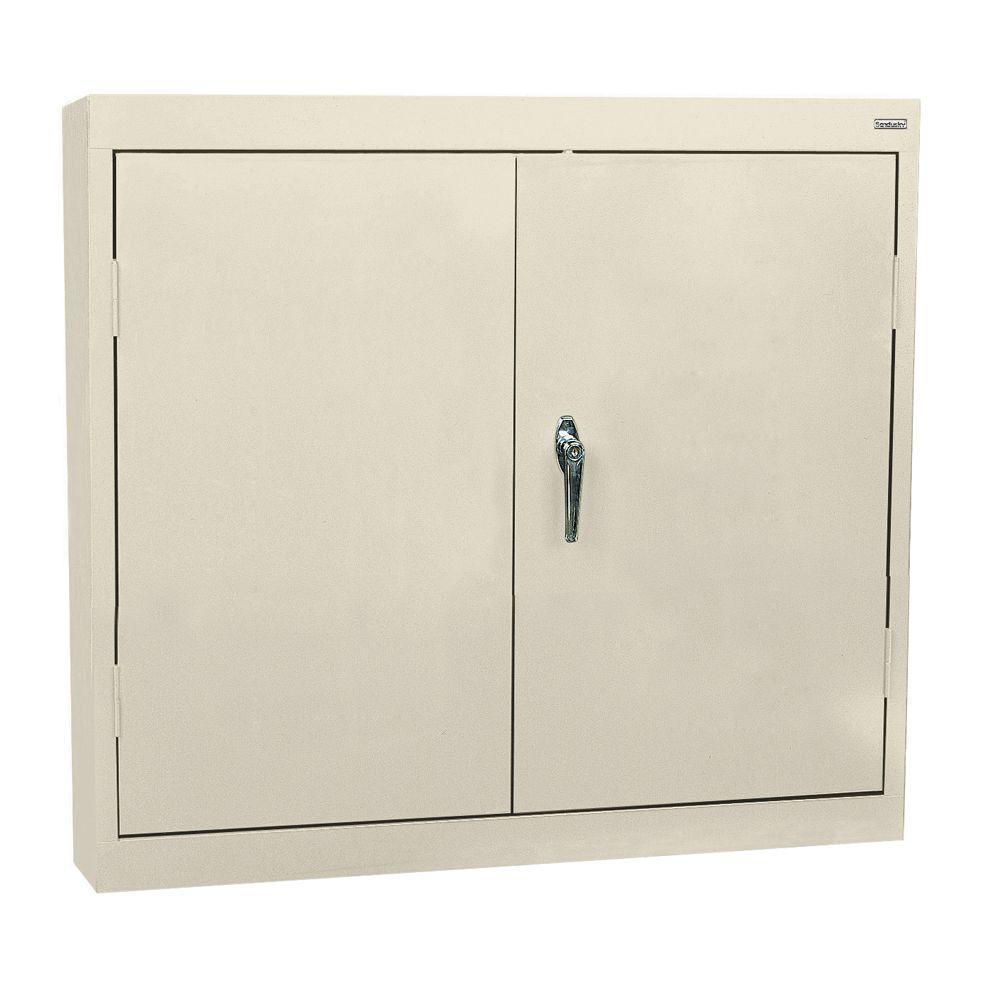 Sandusky 30 in. H x 30 in. W x 12 in. D Wall Cabinet in Putty ...