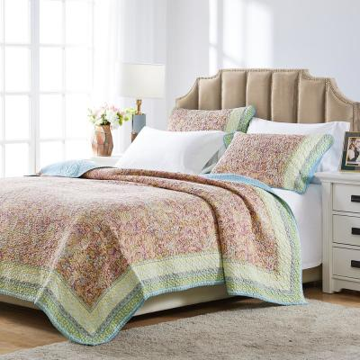 Palisades 3-Piece Pastel King Quilt Set