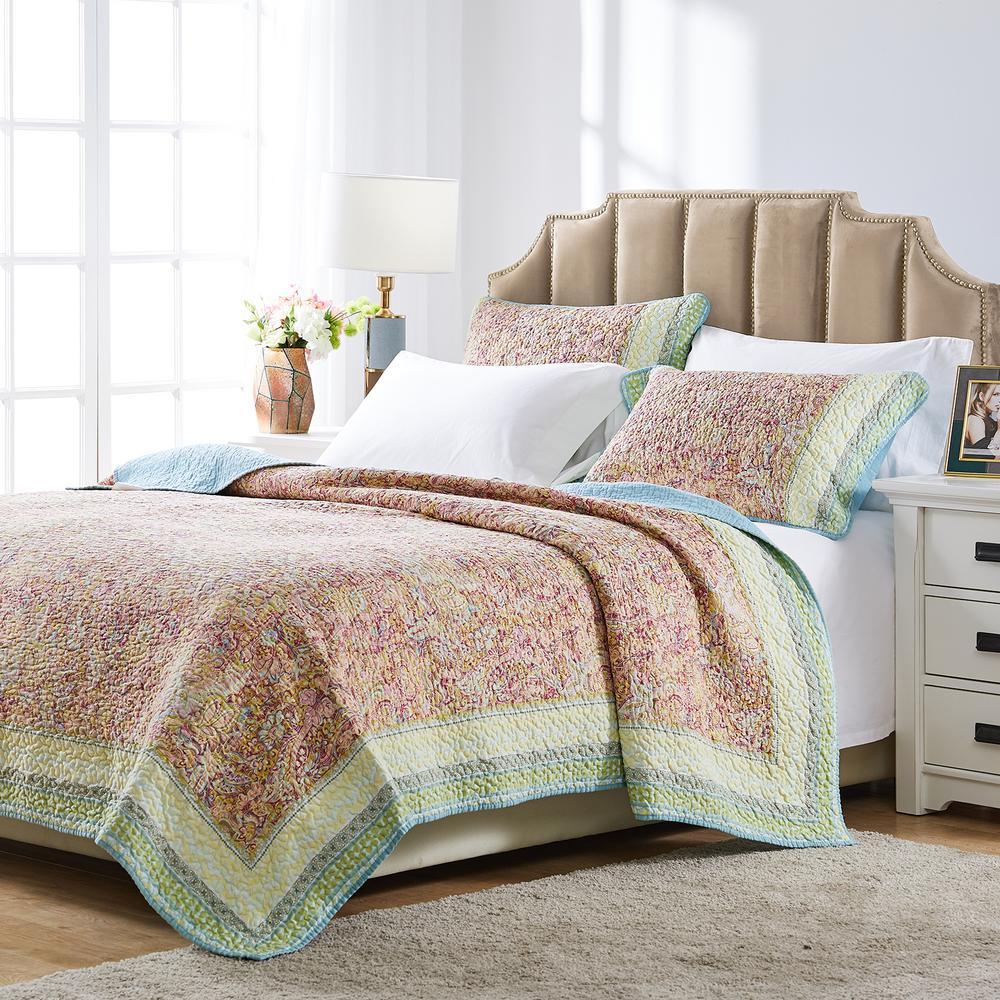 Palisades 2-Piece Pastel Floral Twin Quilt Set