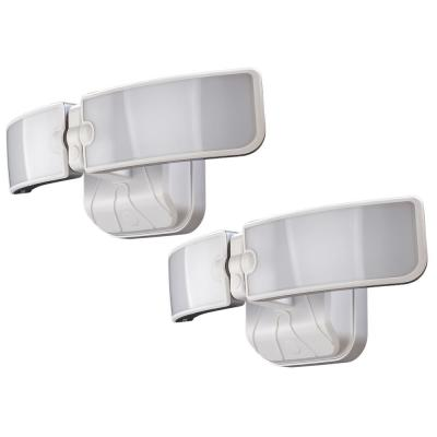 White Integrated LED Outdoor Switch Flood Light (2-Pack)