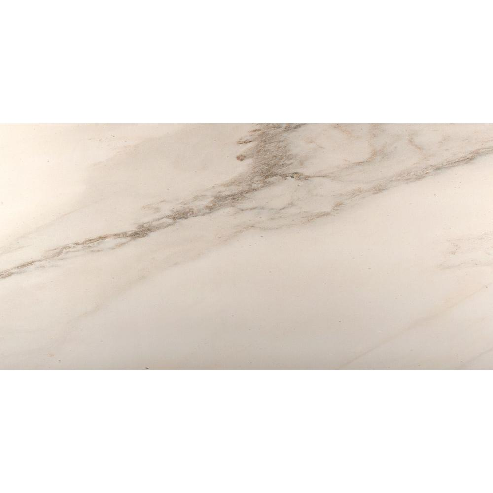 Emser Park Avenue Calacata Matte 16 in. x 32 in. Porcelain Floor and Wall Tile (10.29 sq. ft. / case)
