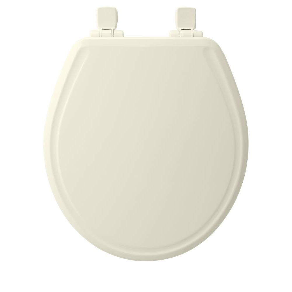 Bemis Round Closed Front Toilet Seat In Biscuit 600e3 346