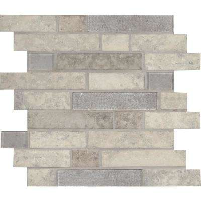 Zodia Interlocking 11.81 in. x 11.81 in. x 6mm Glass Mesh-Mounted Mosaic Tile (14.55 sq. ft. / case)